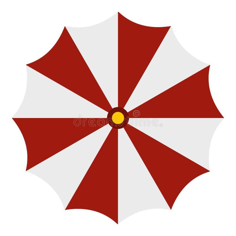 c5c502005b Red And White Beach Umbrella Icon, Flat Style Stock Illustration ...