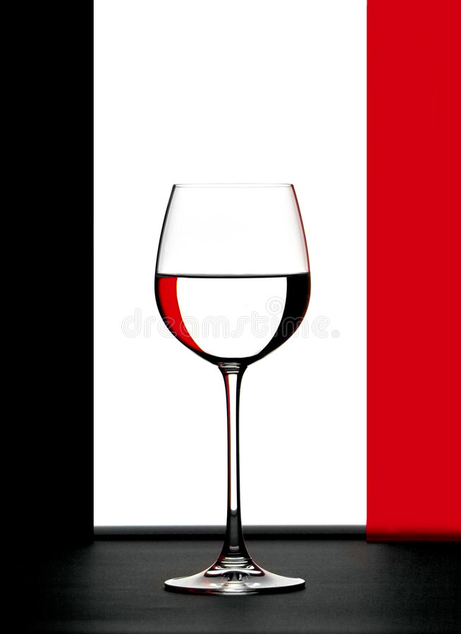 Download Red, white and black stock image. Image of vine, glass - 192413