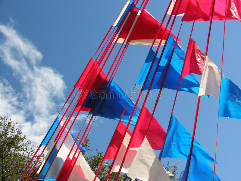 Red white & blue stock photo