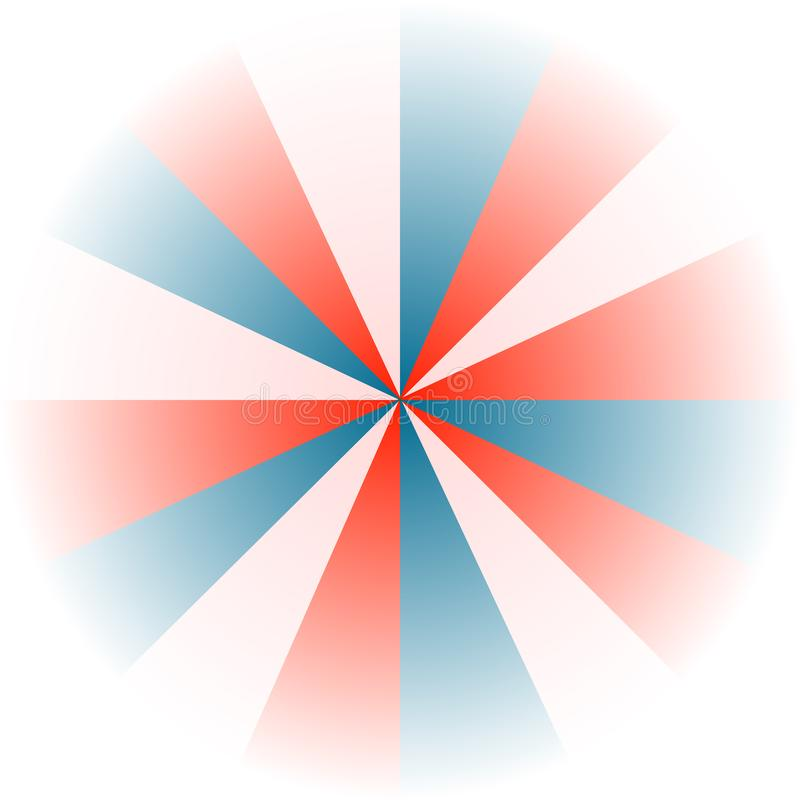 red, white and blue background stock illustration