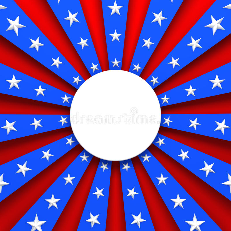 Red, white, and blue background vector illustration
