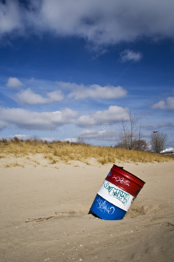 Red White and Blue Barrel royalty free stock photography