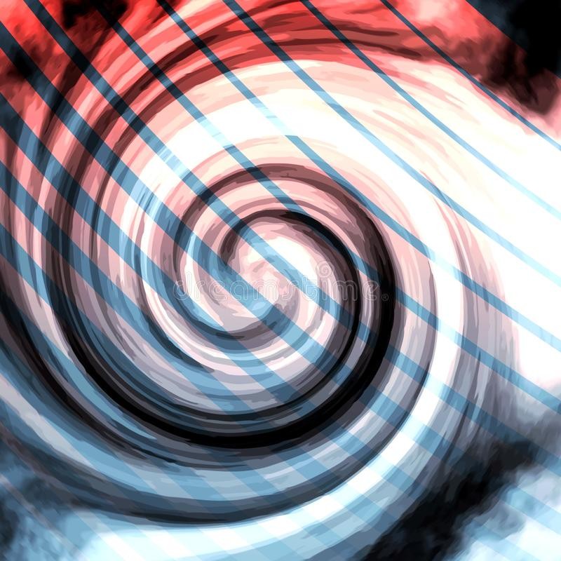 Red White and Blue Radial Swirl with stripes stock images