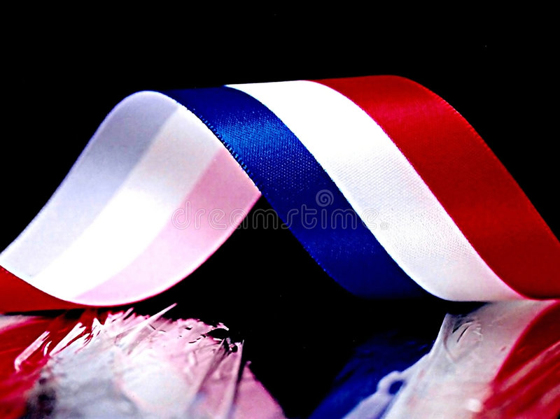 Red,White and Blue Ribbon stock images