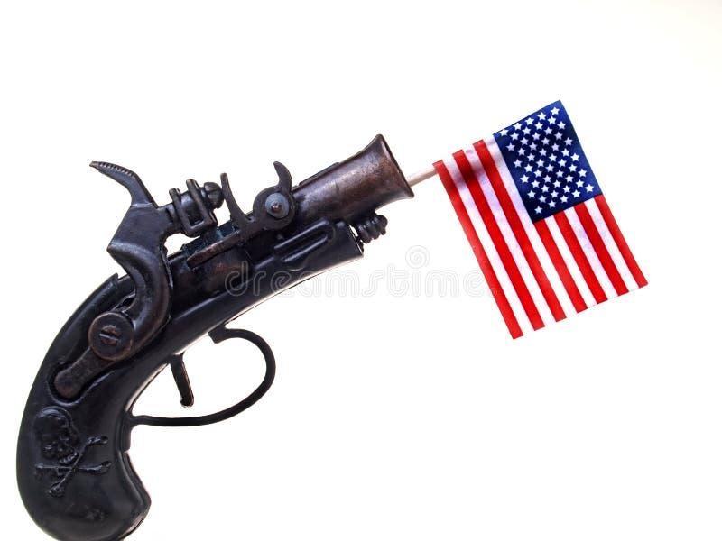 Download Red White & Blue Ribbon & Gun Stock Image - Image: 29077413