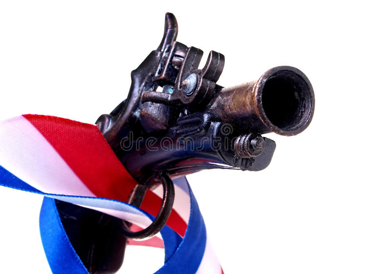 Download Red White & Blue Ribbon & Gun Stock Photo - Image of country, cloth: 29290720
