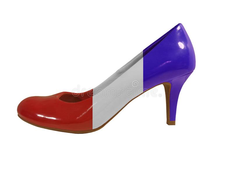 Red, White and Blue Shoe - Symbol for Women in American Politics - Isolate stock photos