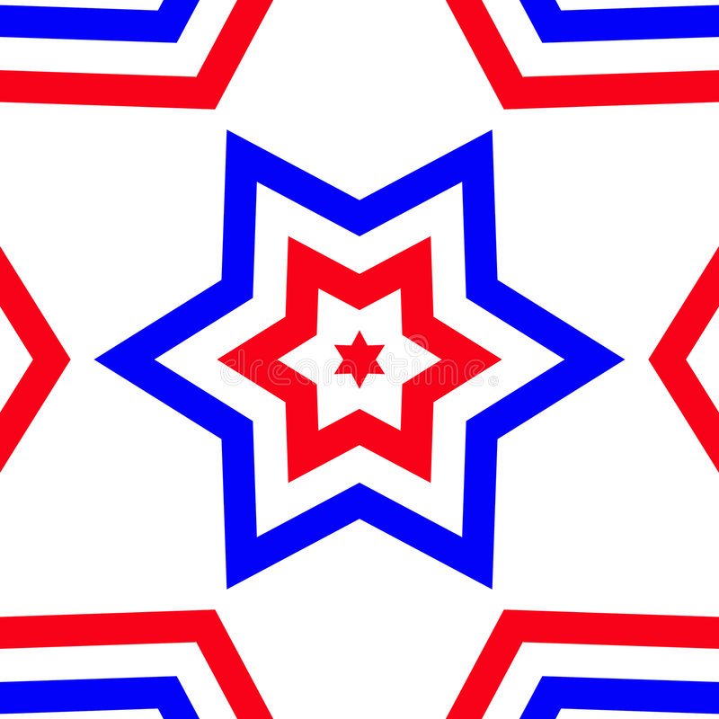 Red, White, & Blue Star - American Pride royalty free illustration