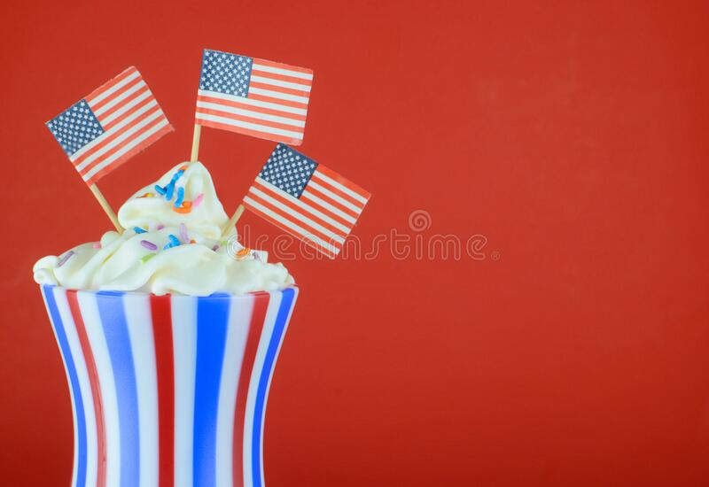 Red, White and Blue stars and stripes for patriotic celebrations in the United States of America royalty free stock photography