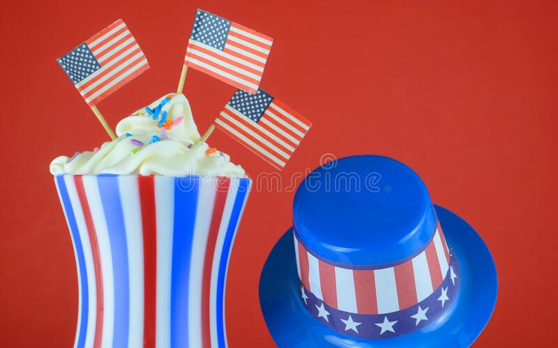 Red, White and Blue stars and stripes for patriotic celebrations in the United States of America stock photography