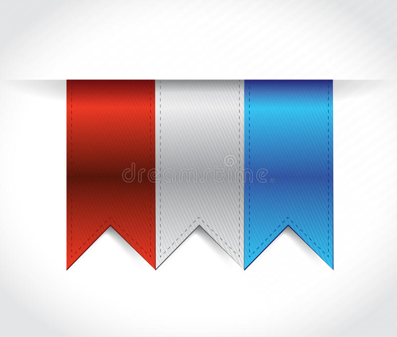 Red, white and blue USA banners illustration stock illustration