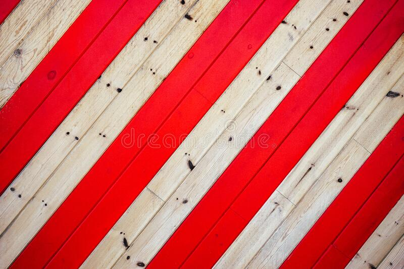 Red and white boards stock image