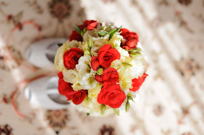 Download Red and White Bouquet stock photo. Image of holding, fashion - 36579008