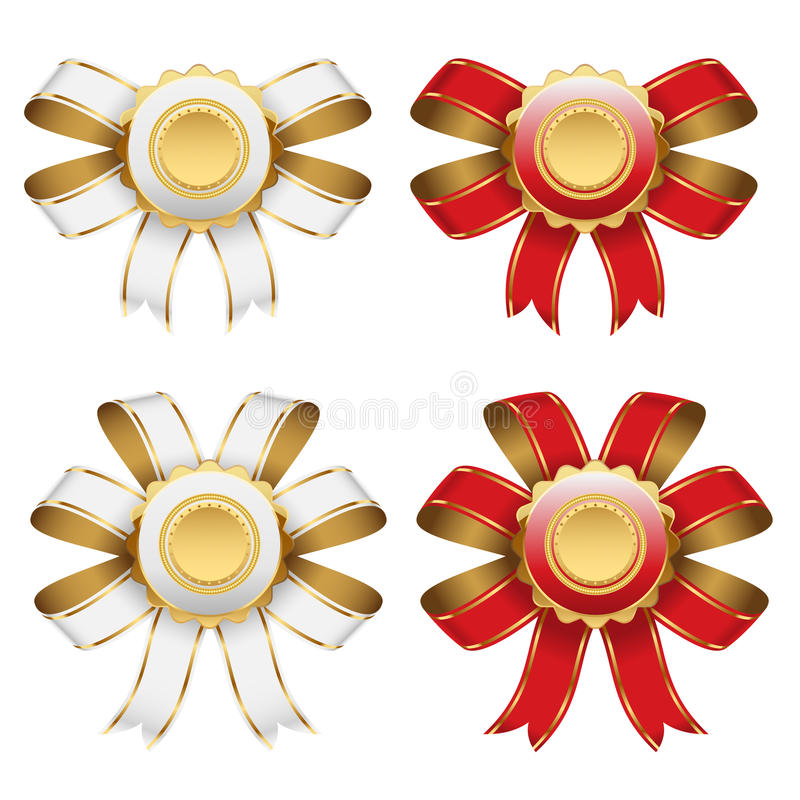 Red And White Bow Royalty Free Stock Images