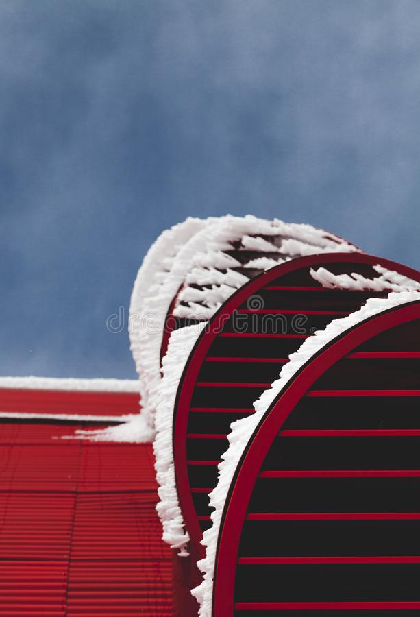 Red and White Building royalty free stock photography