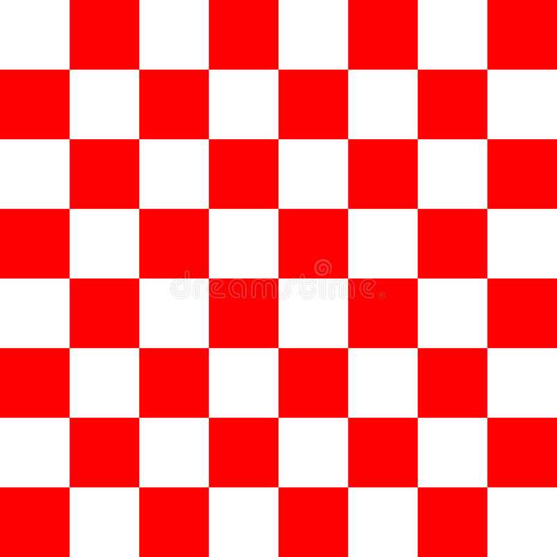 Red and white checker texture pattern. Illustration vector illustration