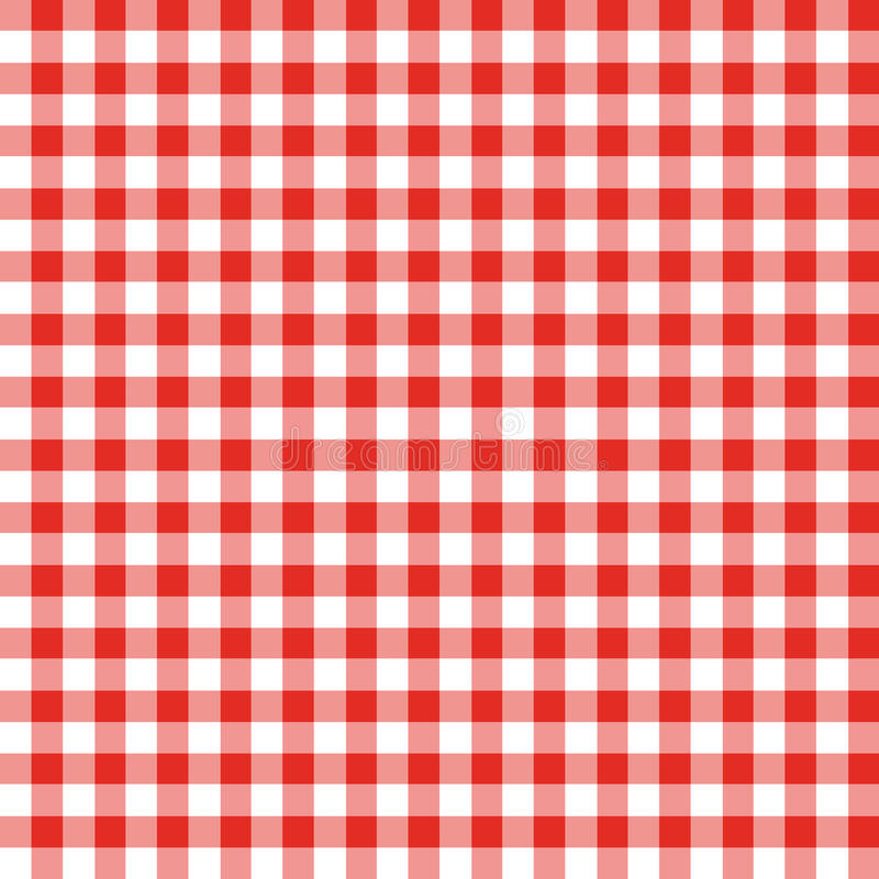 Red and White Checkered Fabric vector illustration