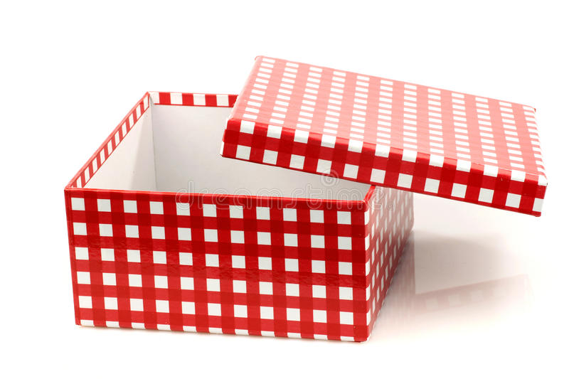Red And White Checkered Gift Box Royalty Free Stock Photos