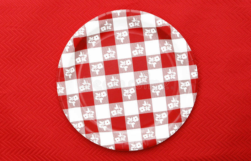 Download Red And White Checkered Plate Stock Image - Image: 20656571