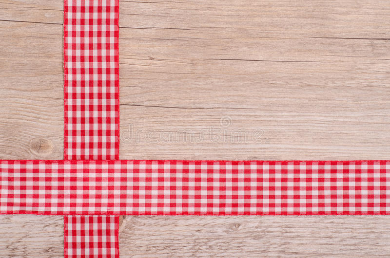 Download Red And White Checkered Ribbons On Wood Stock Photo - Image: 31033134