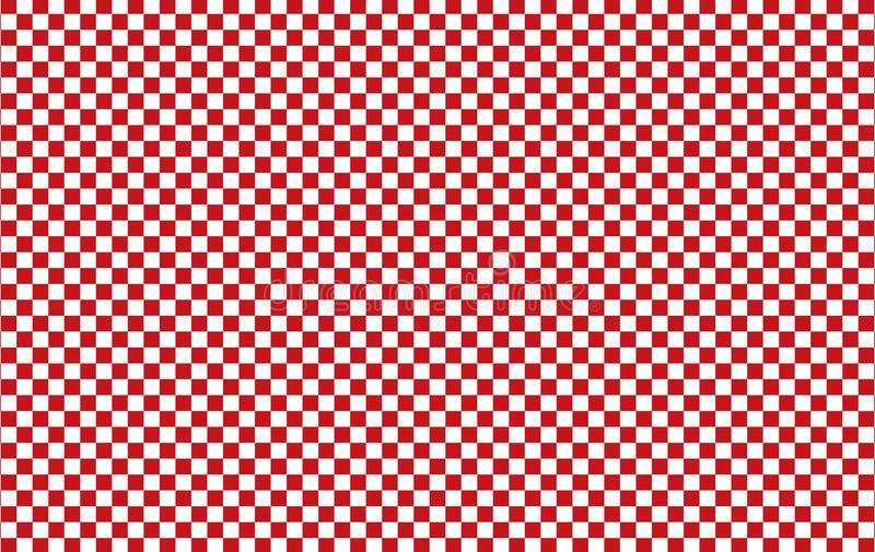 Red and white checkered tablecloth background.Texture from rhombus for - plaid, tablecloths, clothes, shirts, dresses, paper, bed royalty free illustration