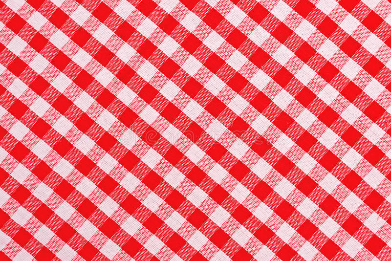 red and white checkered tablecloth stock image - image of romb