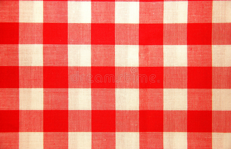 Download Red And White Chequered Tablecloth Stock Photo - Image: 3814384