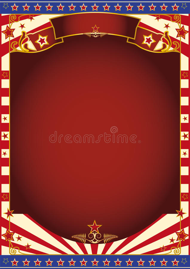 Red and white circus background royalty free stock photography