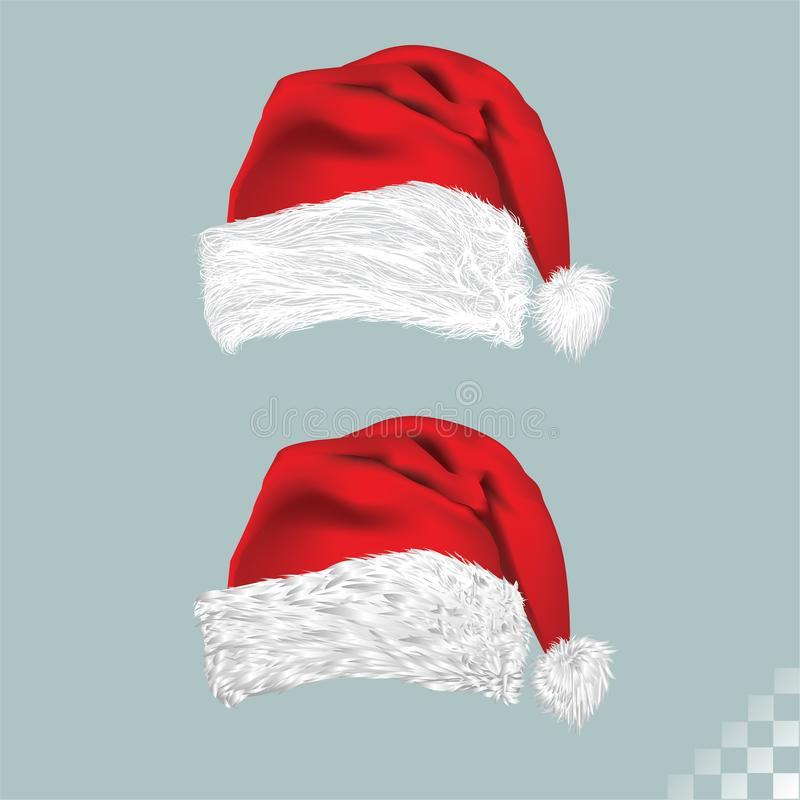 Santa claus Christmas red and white furry hat vector stock photography