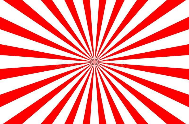 Red and white color burst background for print, gift, web, scrap and patchwork. The geometric pattern by burst. Seamless background. Red and white texture stock illustration
