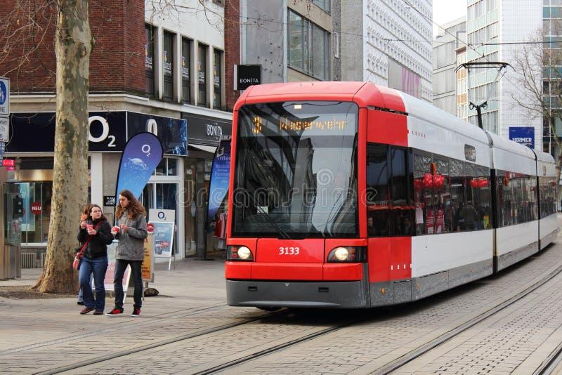 Modern tram in Bremen, Germany stock image