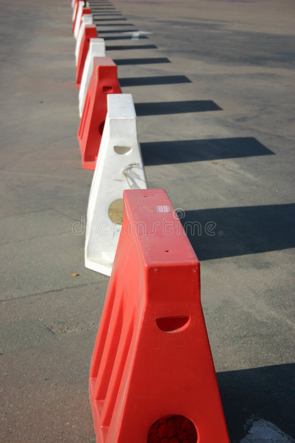 Red and White cones stock photo