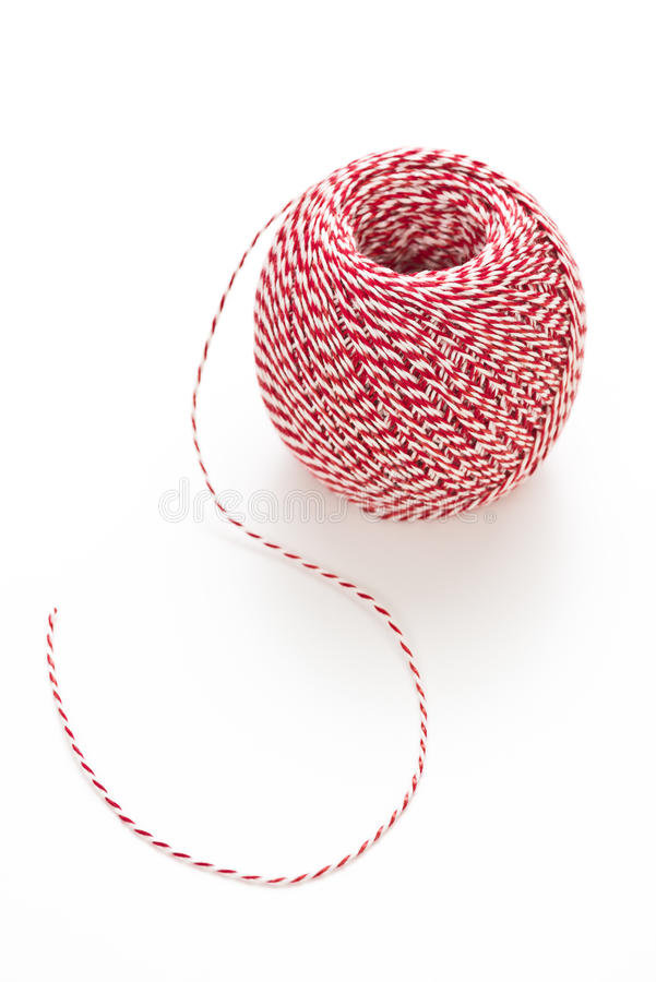 Red and white cord