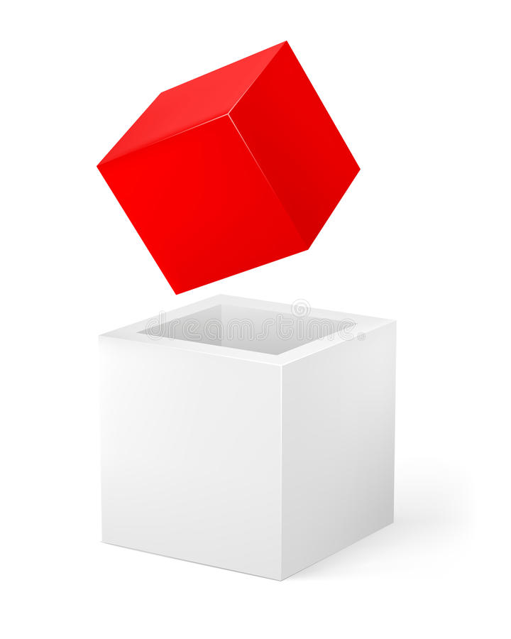 Download Red And White Cube Royalty Free Stock Images - Image: 22872069