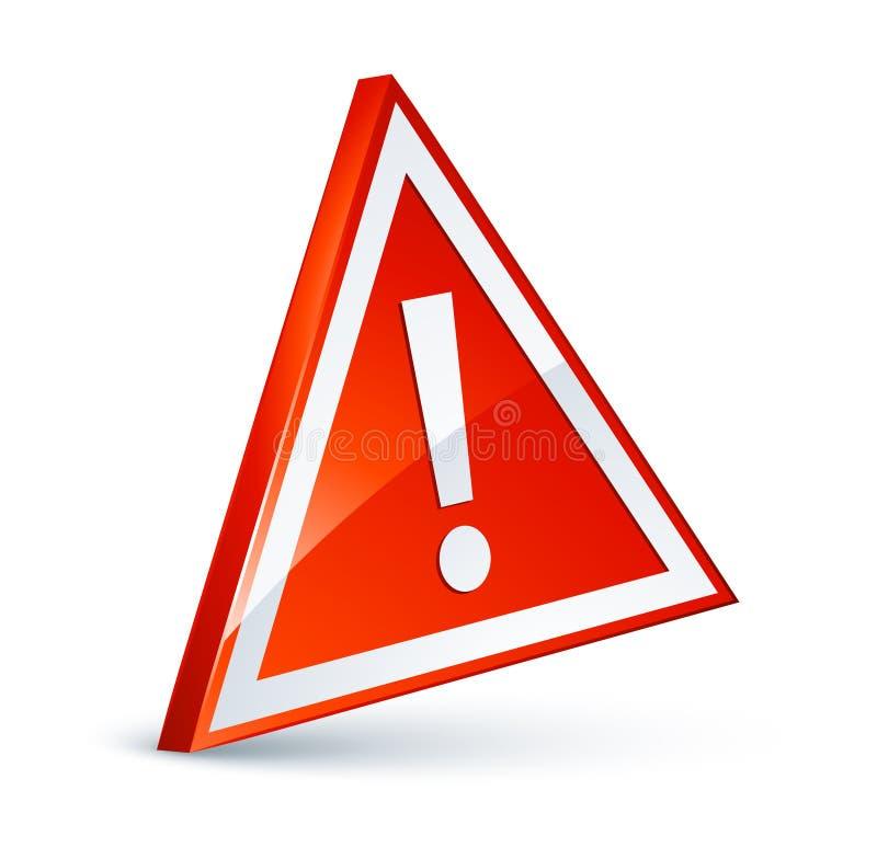 Red and white danger sign vector illustration