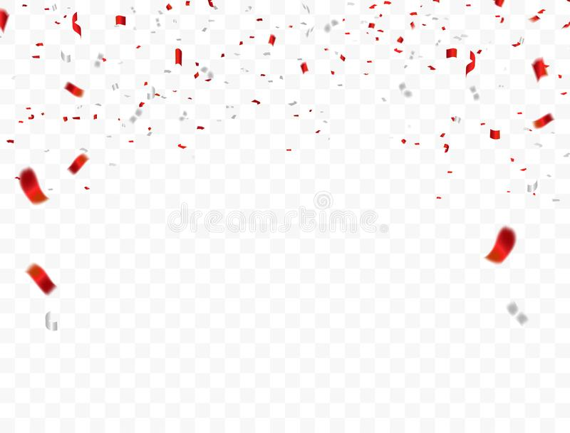 Red White design, confetti concept 17 August Happy Independence Day greeting background. Celebration Vector illustration. Red White design 2019, confetti vector illustration