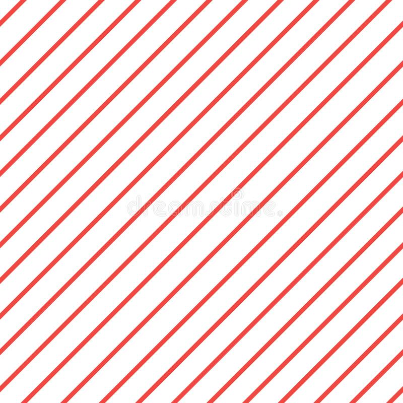 Red white diagonal stripe pattern background. iagonal lines pattern. Repeat straight stripes texture background royalty free illustration