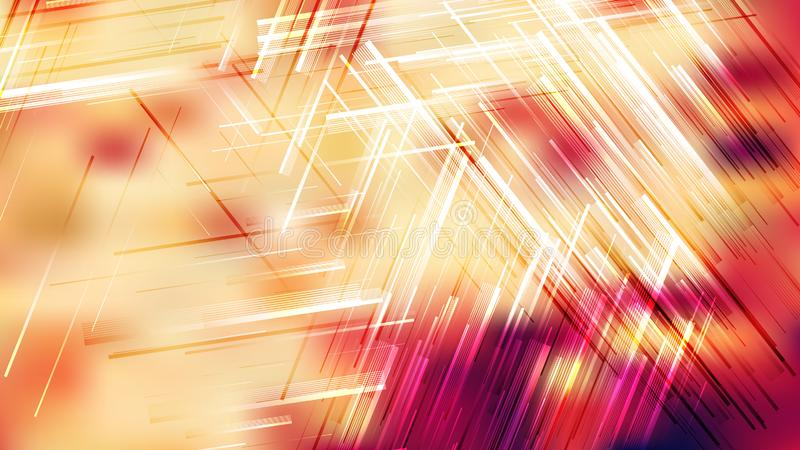 Red White e Yellow Chaotic Random Lines Abstract Background Art ilustração stock