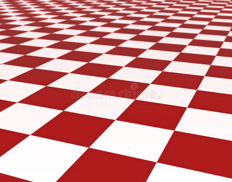 Red And White Floor Tiles Stock Illustration. Illustration