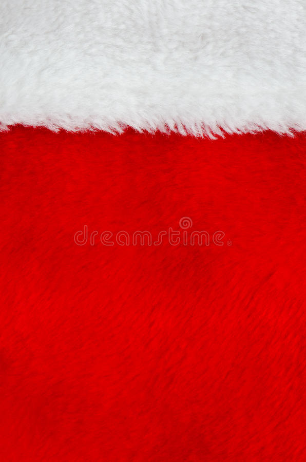 Red and white fur. Part of Santa' s clothing stock image