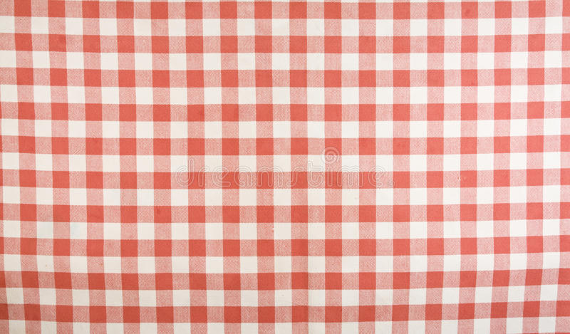 Red And White Gingham Tablecloth Pattern Royalty Free Stock Photos