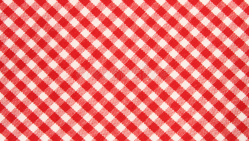 red/white grid cloth pattern