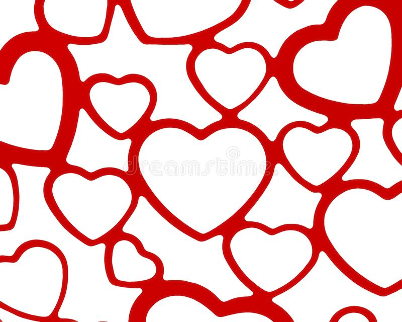 Red and white heart set background backdrop wedding valentine love romance design royalty free illustration