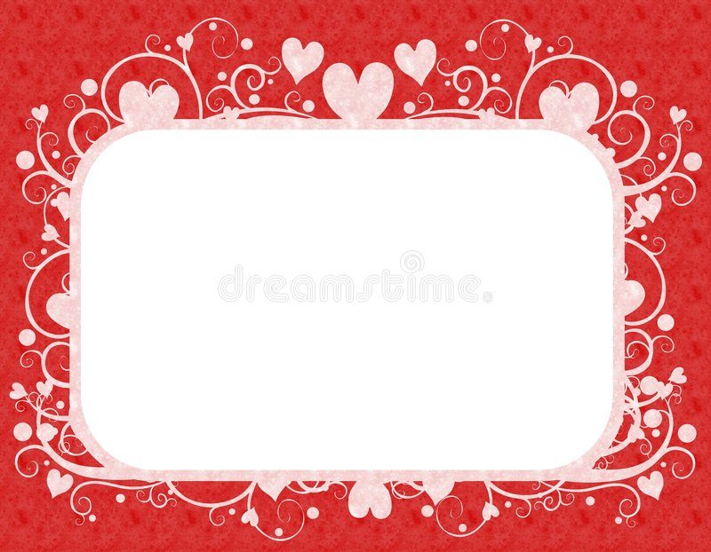 Red White Hearts Valentine s Day Frame