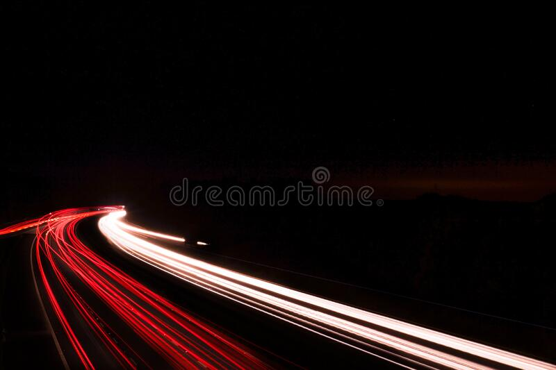 Download Red and White Led Lights stock image. Image of long, lights - 83016907