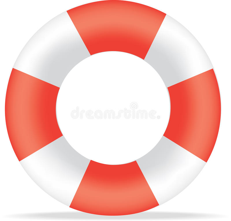 Red and white life bouy royalty free illustration