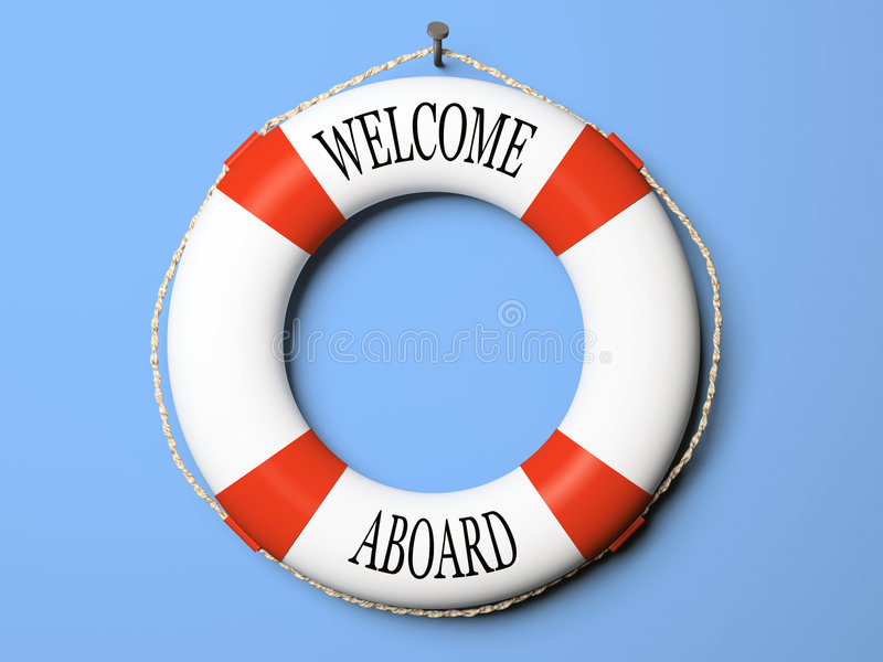 Red and white life buoy royalty free illustration