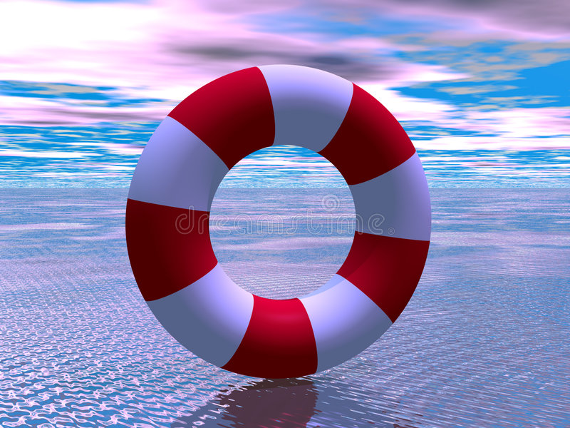 Download Red And White Life Guard Ring Stock Illustration - Image: 2618100