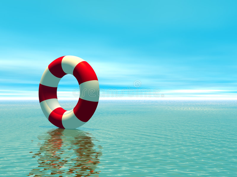 Download Red And White Life Guard Ring Stock Illustration - Illustration: 2618151