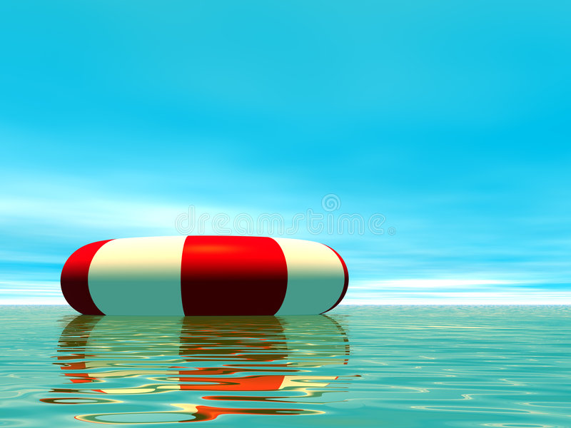 Red And White Life Guard Ring Royalty Free Stock Photography